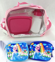 Wholesale FROZEN snow Romance Crystal pink lunch bag Frozen shoulder bag insulation diagonal package kettle lunchbox HG