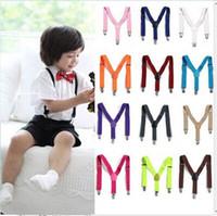 Wholesale Candy Color Unisex Mens Womens children s Clip on Adjustable Braces Elastic Y back Suspenders Colors For Choosing CD12001