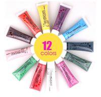 Wholesale 12 Colors Draw Painting Acrylic Paint Nail Art Polish D Nail Art Paint Decoration Design Tips Tube Set