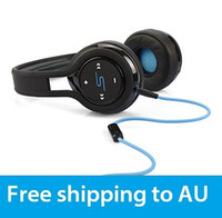 Wholesale to AU SMS Audio Wireless SL350 STREET by On Ear Headphone hot selling Black Noise Cancelling Hifi Mic Earphones Headset