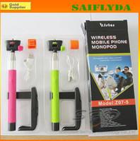 Wholesale Extendable Handheld Self portrait Monopod selfie stick Photograph Bluetooth Shutter Camera Remote Controller for smartphone Monopod