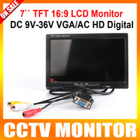 av display lcd - DC V V inch TFT LCD Color Display Screen Car monitor computer HD digital VGA AV Remote Control DVD VCR Support as Computer Screen