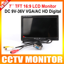Wholesale DC V V inch TFT LCD Color Display Screen Car monitor computer HD digital VGA AV Remote Control DVD VCR Support as Computer Screen