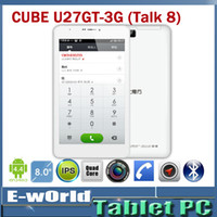Wholesale Cube Talk8 U27GT Quad Core G Tablets PC quot MTK8382 Phone Call x800 IPS MP Camera GB GB Android Phablet with GPS Bluetooth