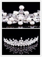 Wholesale 2014 Classic Silver Plated Pearl Crystal Bridal Tiaras Hair Accessories Fashion Modern Hot Sale No Risk Shopping Wedding Bridal Hair Jewelry