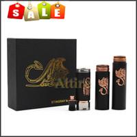 Wholesale E Cigarette Stingray Mod Black Copper Stingray Battery Body Mod Electronic Cigarette Battery Tube gift box for Battery