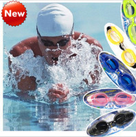 Wholesale Water sports goggles anti fog goggles waterproof big box child adult professional swimming goggles glasses three piece nose clip Earplugs
