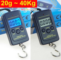 <50g Hanging Scale Yes Wholesale-OP-40Kg 10g Digital BackLight Hanging Luggage Fishing Pocket Weight Scale Kg Lb OZ (With Backlight)