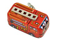 2-4 Years Red Metal 2014 Amusing Toys New 80's Classic Toys Tin Fire Truck Winding-power For Collection 12436 b007