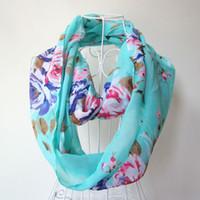 scarf Neck chevron print - 10pcs New Voile scarf women print infinite Wave Chevron spain desigual scarves wrap linen Circle Loop scarf neck