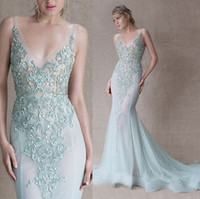See Through Celebrity Paolo Sebastian 2015 New Ball Gowns Ev...