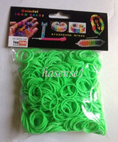 Wholesale children gift packs rainbow Loom Bnads Rubber Wrist Band with S Clips without Retail Box Packing