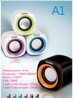 Wholesale 2 USB A1 laptop speakers mini speaker stereo MP3 phone computer portable speaker mini speakers factory price hot selling