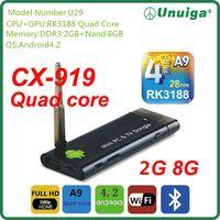 Wholesale Hot New Rockchip RK3188 Keyboard Quad core Android4 GB RK3188 TV box MINI PC WIFI media player Drop Shipping