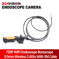 Wholesale HD P Wireless WIFI b g n Mbps Endoscope Video Inspection Snake Camera M MM Lens Mega Pixles