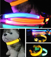 Wholesale LED Flashlight Pet Supplies Cat Dog LED Collar Safety Glow Necklace Flashing Lighting LED Light Dog Collar Cute Teddy Bear Luminous Collars
