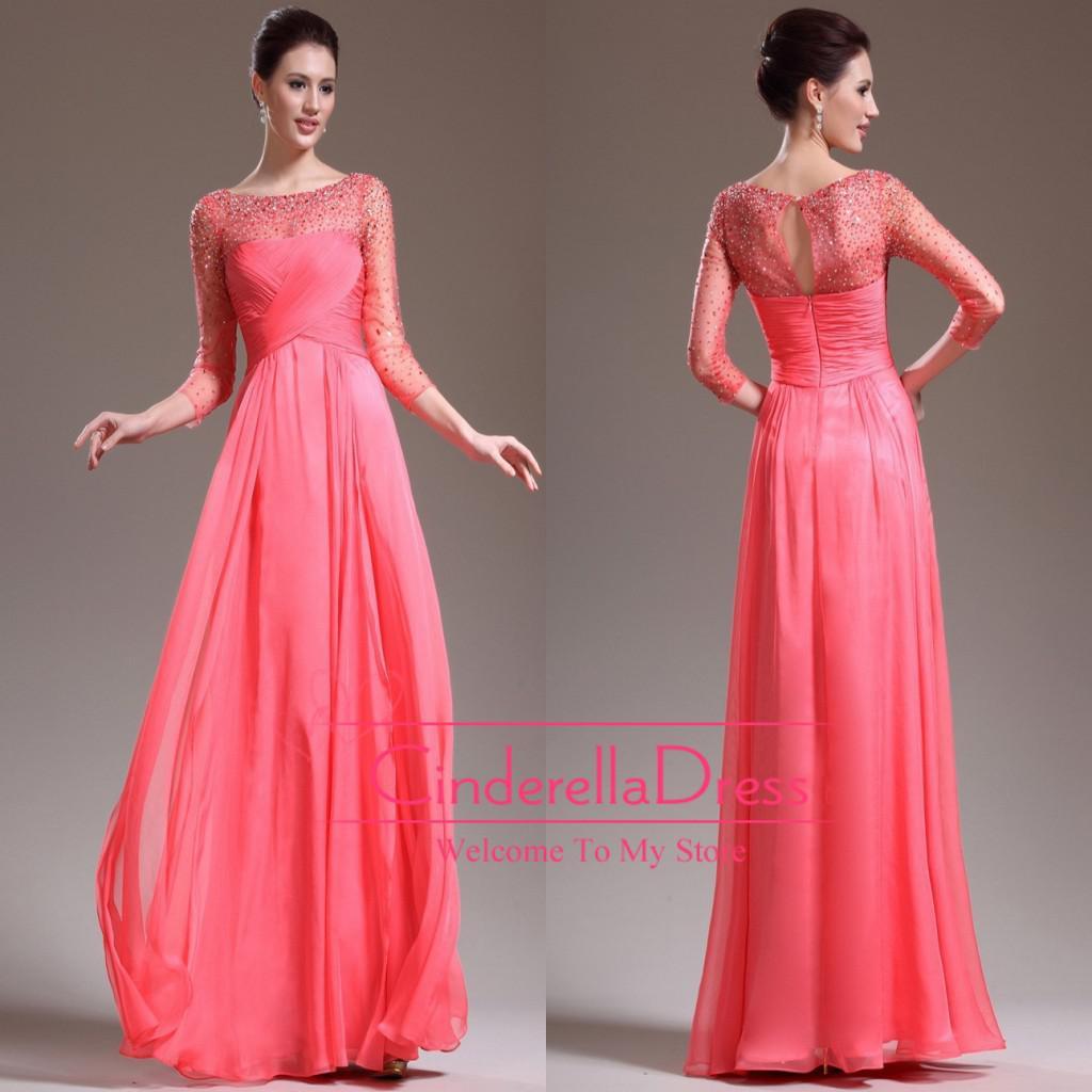 Plus size mother of the bride dresses elegant chiffon long a line