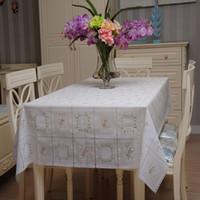 Wholesale Fashion Plaid table cloth Waterproof table cloth pvc Tea table cloth square tablecloth