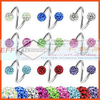 banana belly bars - OP Full of stones Stainless Steel Spiral Twister S Shape Bar Eyebrow Belly Banana Mixed Colors
