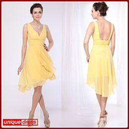 yellow dress ruffles under clothes