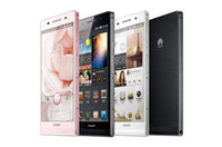 "Original Huawei Ascend P6 4.7 ""Incell pantalla Android 4.2 hasi K3VE Quad Core 1.5GHz 2GB RAM 8GB GPS Cámara 3G abrió el teléfono elegante libre de DHL"