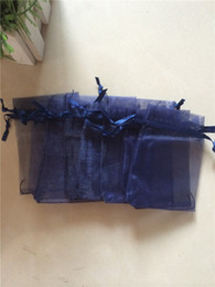 500pcs 7x9cm Navy Blue jewelry gift pouch wedding organza bags Wedding Favor Party
