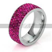 Wholesale Fashion gift Charm Party New arrival rhinestone wedding jewelry Rhodium Plated CZ Crystal Rings