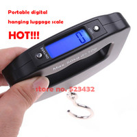 <50g Pocket Scale Yes Wholesale-OP-Free shipping 50Kg 10g mini Portable digital hanging Hook Weight Scale,luggage scale, fishing scale, postal balance, retail pac