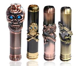 Skull King Mod Bronce Cobre HellFire Vaporizador Mecánico E Cig Mod Mix Orden Avialable desde cobre vaporizador mod fabricantes