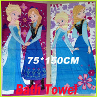 Wholesale Frozen Bath Towel Elsa Anna Beach Towels Fashion Cotton Towels Children Beach Towel Kids Bath Towel GZ GD2