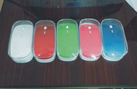 Wholesale 100pcs Ultra Thin Optical Wireless Mouse USB GHz For Laptop Notebook with retail box Free DHL