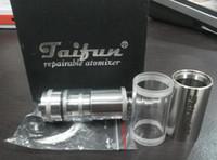 Replaceable 3.0ml Metal Taifun GT repairable atomizer big vapor electronic cigarette vaporizer with 510 thread Free Shipping