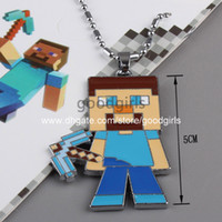 Wholesale 10pcs Anime Games Minecraft Necklace Metal Figures Pendants ANPD1473