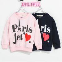 Wholesale DHL FREE fall children cotton long sleeve sweater boys girls korean towel printing autumn pullover outwear sportwear clothing J080504