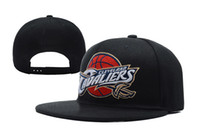 Unisex cavalier - Cavaliers Snapbacks Black Snap Backs Cleveland Hats Flat Hip Hop Caps Brand Snap Back Hats Team Embroidered Logo Adjustable Sports Caps