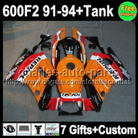 Wholesale Repsol gifts For HONDA CBR600F2 CBR600FS CBR600 F2 C L280 orange red CBR F2 F2 Fairing On Sale