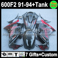 7gifts For HONDA Red flames CBR600F2 91- 94 CBR600FS CBR600 F...