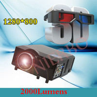 Wholesale Native Resolution home Cinema Projector FULL HD Projector Lumens supports and wiimote