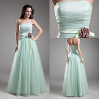 Modest Formal Cheap Sexy 2014 Bridesmaids Dress Green Hunter...