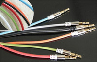 Cable DC3.5mm  100cm Male To Male 3.5mm Jack to 3.5mm 6 Colors Crystal Audio Cable For Iphone Car AUX For Phone CD Player 150pcs lot
