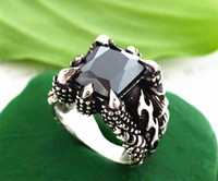 Solitaire Ring African Men's Rings For Men Personalized Ring Titanium Male Ring Finger Black Stone Ring