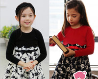 baby fund - Quality Children s Clothing Society New Fund Of Autumn Silk Floral Belt Splicing Girl Long Sleeve Dress Baby Kids Princess Dress GX884