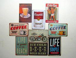 Wholesale 2014 new fashion cm coffee drink billboard AD Tin Sign Coffee Shop Bar Restaurant Wall Art decoration Bar Metal Paintings Tin Sign