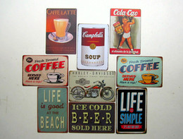 Wholesale lastest new fashion cm coffee drink billboard AD Tin Sign Coffee Shop Bar Restaurant Wall Art decoration Bar Metal Paintings Tin Sign