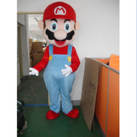 Wholesale Super Mario Mascot costumes Fancy Dress Adult Size Suit Cartoon costumes