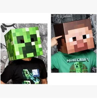 Wholesale Minecraft Box head Mask Minecraft Creeper head Steve head Models Free FedEx a Best Quality in stock