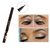 8829 1Pcs Mineral Permanent Dazzle Black Ultra-fine Liquid Eyeliner Black Eyeliner Pen Pencil Waterproof and Smudge-proof