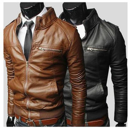 Discount Brown Leather Jacket Men Sale | 2017 Brown Leather Jacket