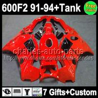 7gifts For HONDA Factory red CBR600F2 91- 94 CBR600FS 91 92 9...