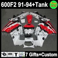 7gifts For HONDA CBR600F2 Red white 91- 94 CBR600FS 91 92 93 ...